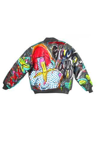 Iris Bonner THESEPINKLIPS Banana Girl Flight Jacket