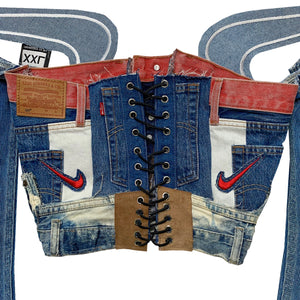 Hybrid Denim Corset Top