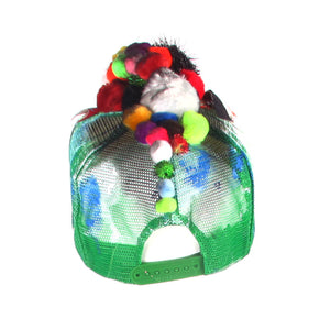 Monster Pom Pom Baseball Cap