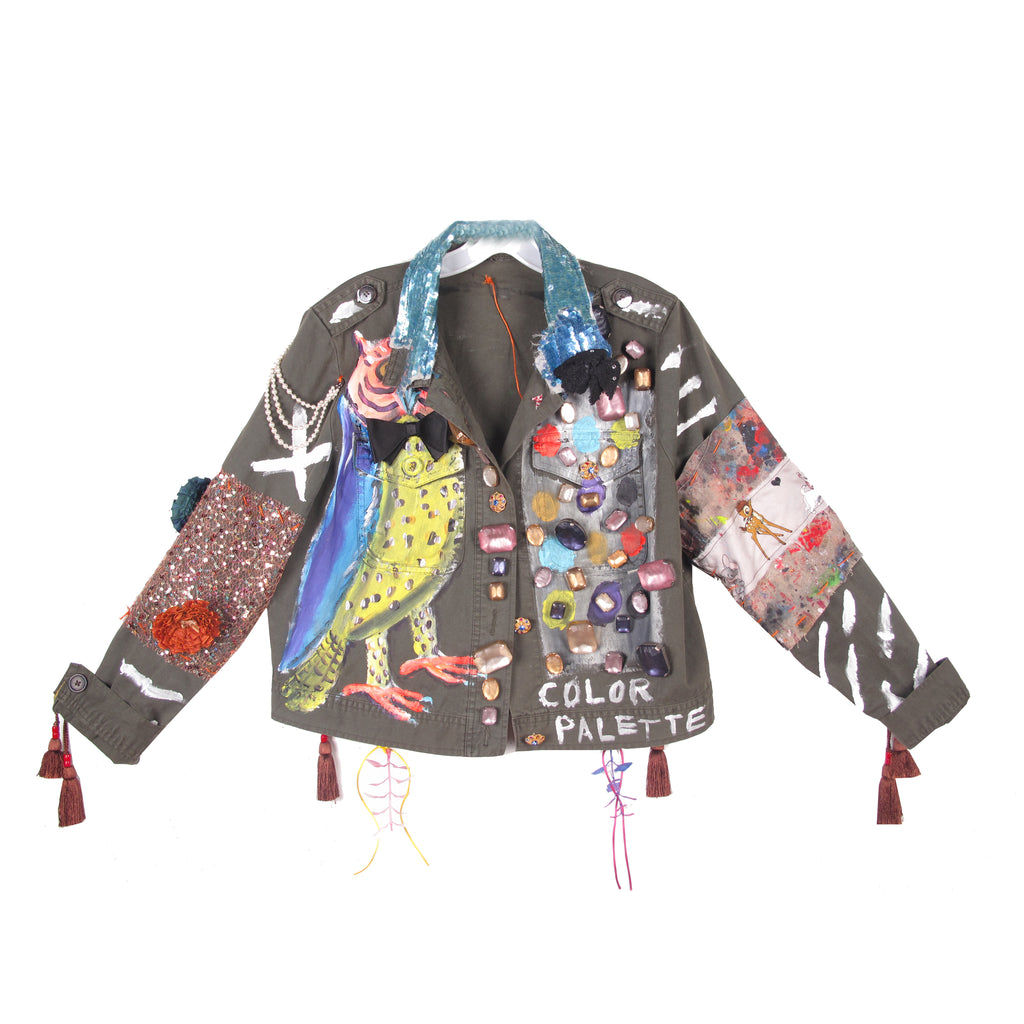 'COLOR PALETTE' COTTON JACKET