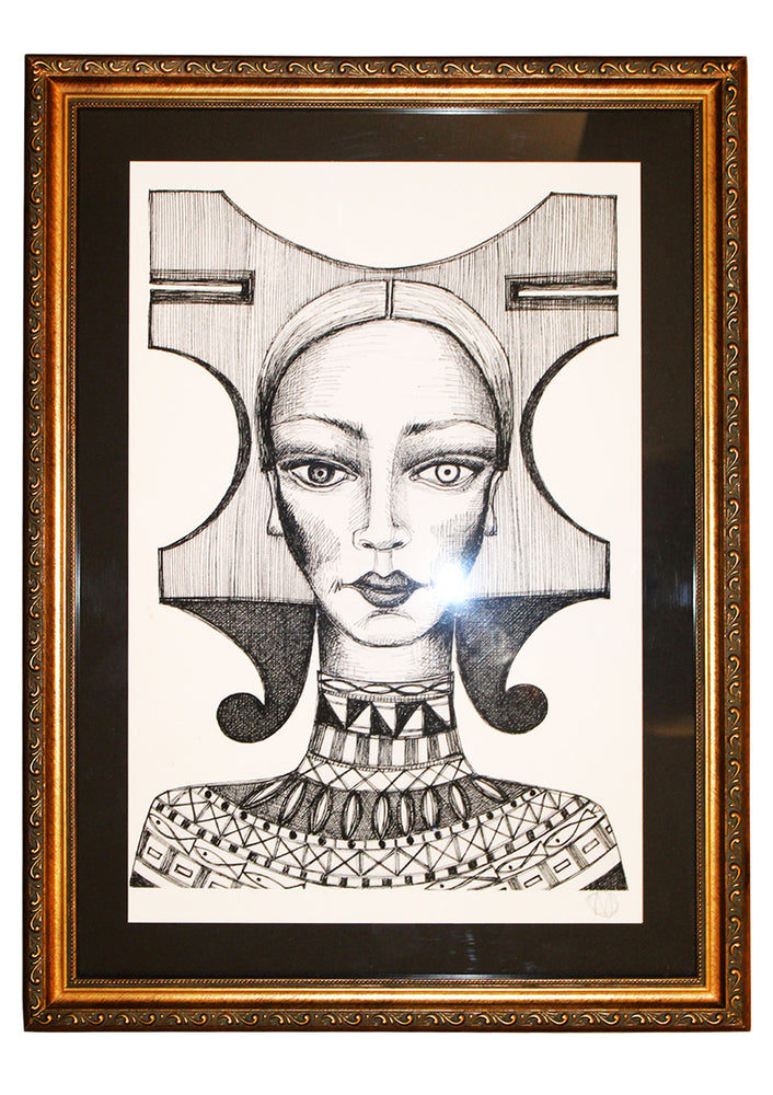 """The Judge"" 2016, framed print"