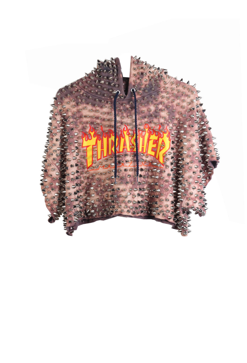 'THRASHER' Fully Loaded Crop Hoodi- AVAILABLE FOR IMMEDIATE DELIVERY SIZE M