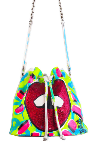 Iris Bonner THESEPINKLIPS Respect the Gap Bucket Bag