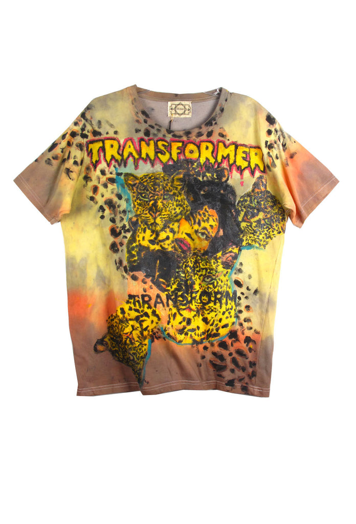 'HUSHI Mortezaie' Hand Painted 'TRANSFORMER' Tee - AVAILABLE FOR  IMMEDIATE DELIVERY SIZE M