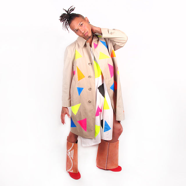 'Triangle Nu Wave 79' Trench Coat
