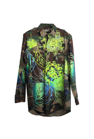 Ben Copperwheat 'TRIFFID EYE' Camo Shirt- AVAILABLE FOR IMMEDIATE DELIVERY SIZE XL