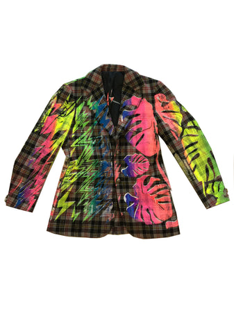 Ben Copperwheat 'TROPICAL BOWIE' One of A Kind Blazer - IMMEDIATE DELIVERY SIZE 40R