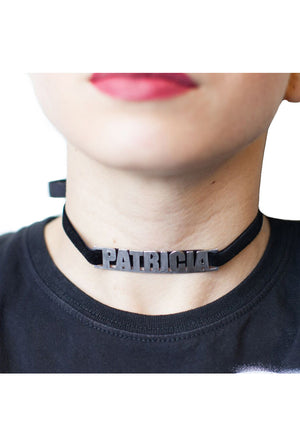 Personalized Name Choker in Velvet