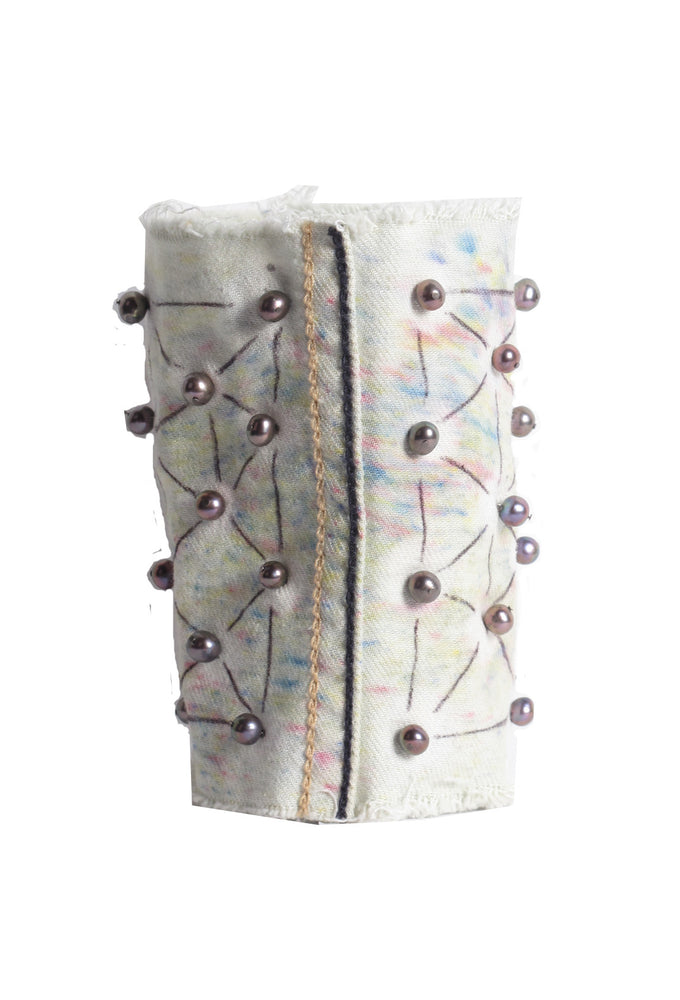 Scattered Pastel Pearl Wide Cuff- AVAILABLE FOR IMMEDIATE DELIVERY