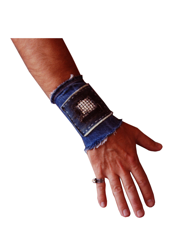 Sparkle Crystal Mesh Wide Cuff- AVAILABLE FOR IMMEDIATE DELIVERY