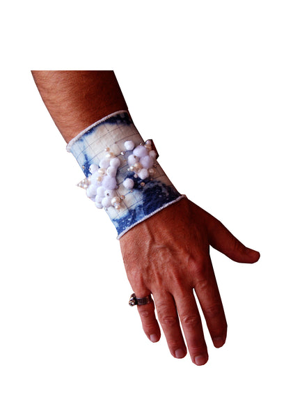 White Cloud Pearl Wide Cuff- AVAILABLE FOR IMMEDIATE DELIVERY