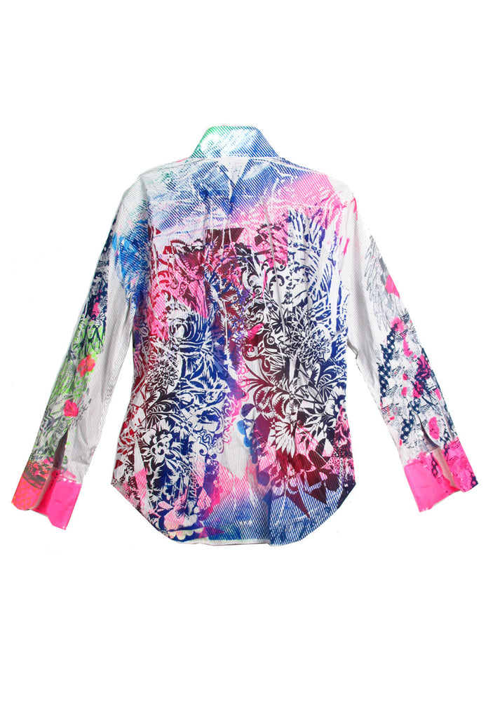 Ben Copperwheat One of A Kind  'MIX PRINT' Long Sleeve Button Down Shirt- AVAILABLE FOR IMMEDIATE DELIVERY SIZE M