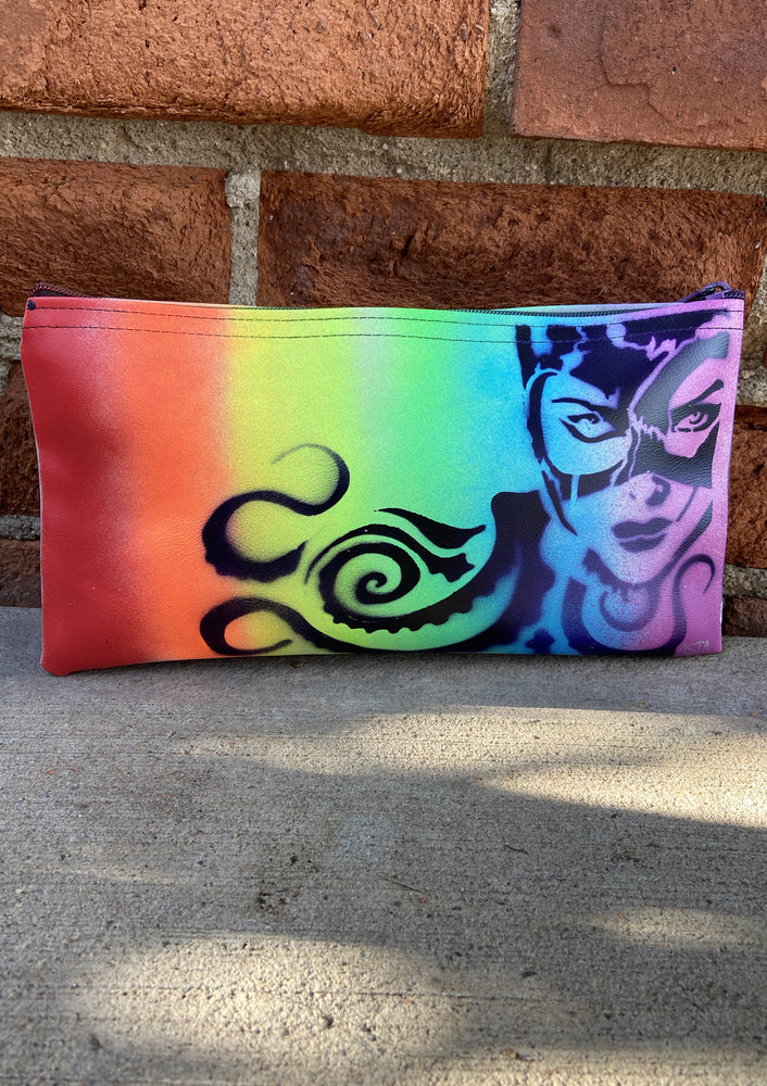 Rainbow Cat Woman Clutch