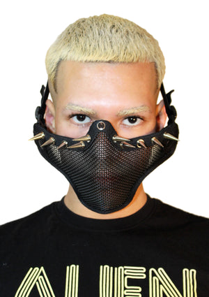 Full Cover Spike Mesh Face Guard