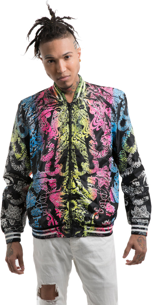 Colorful Floral Baseball Jacket