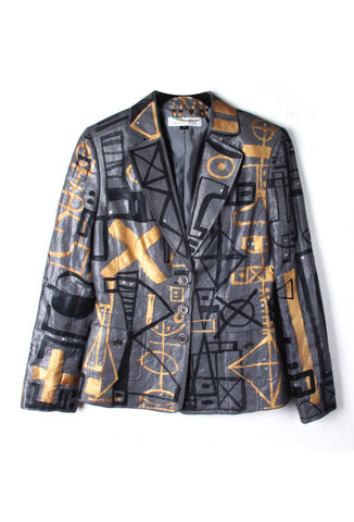 Jody MORLOCK Hand Painted Metallic Women's Blazer IMMEDIATE DELIVERY SIZE 6