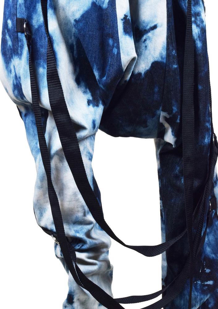 DOPE Bleached Denim Pants with Zippers
