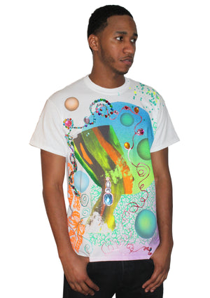 Cosmic Nefertiti Jeweled T-Shirt