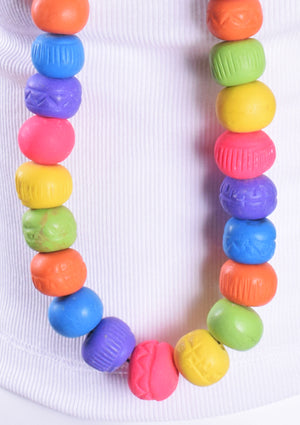 Large Colorful Beaded Necklace