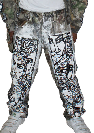 Many Faces Camo Mens Jeans