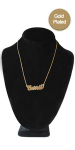 Gold Plated Custom Nameplate Necklace