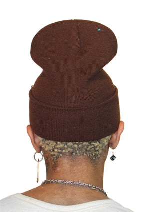 XO Beanie - Brown Disco