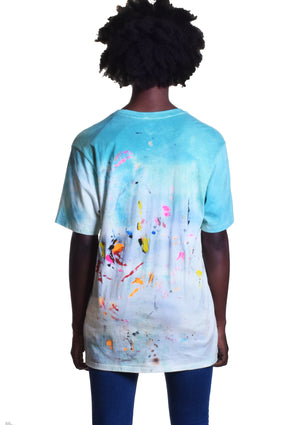Funny Man Clown Sequined Tee