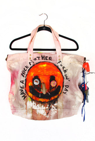 "Scooter LaForge ""Have A Nice Motherf*cking Day"" Tote - ONE OF A KIND"