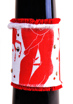 Boys Just Want to Party Denim Cuff - Red / White