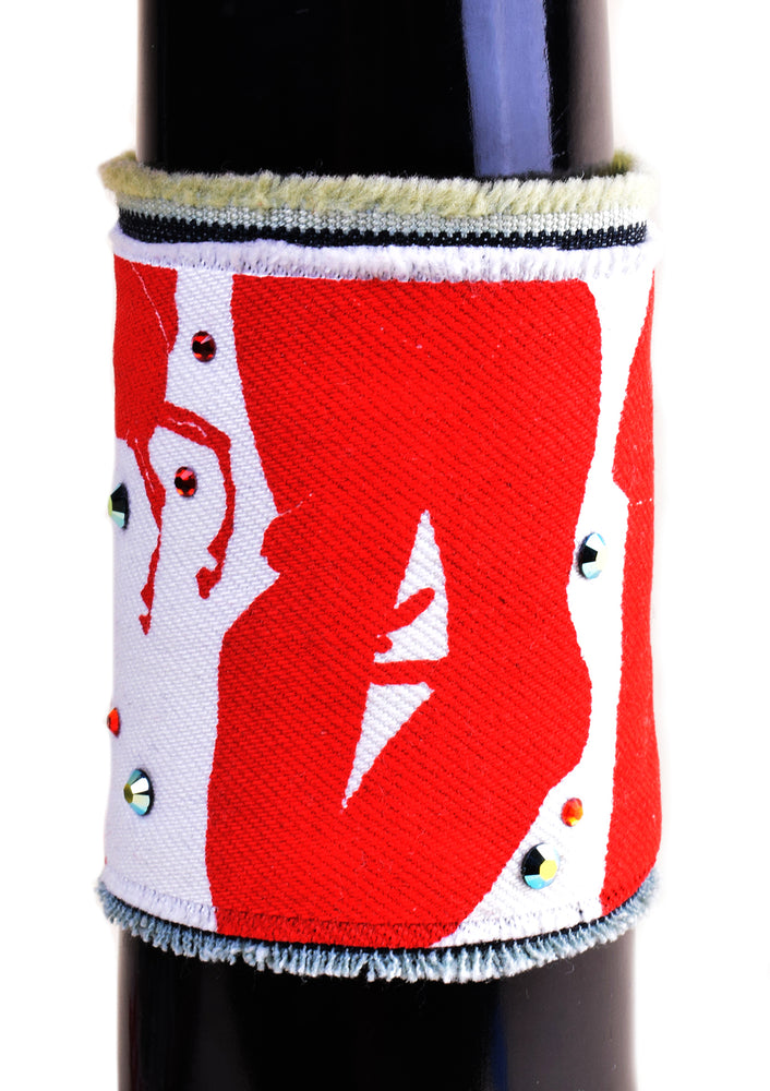 Boys Just Want to Party Denim Cuff 2 - Red / White