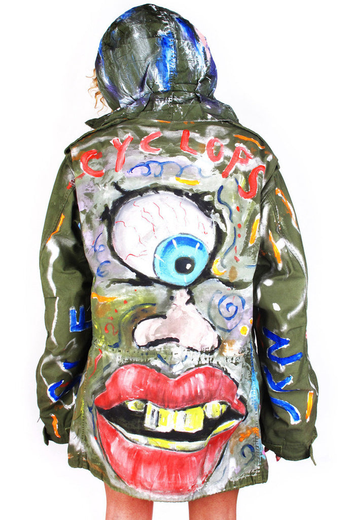 Scooter LaForge Custom Painted Army Parka - MADE TO ORDER