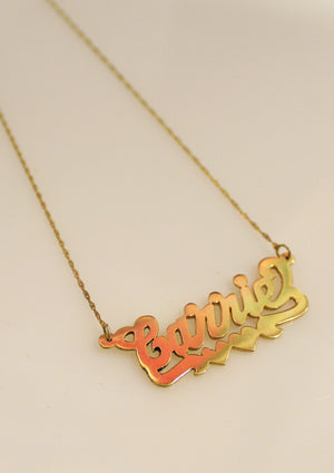 NEW Carrie 2.0 14k Gold Custom Nameplate Necklace