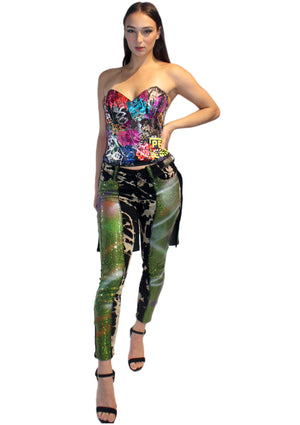 Green Glitter Sedition Pants