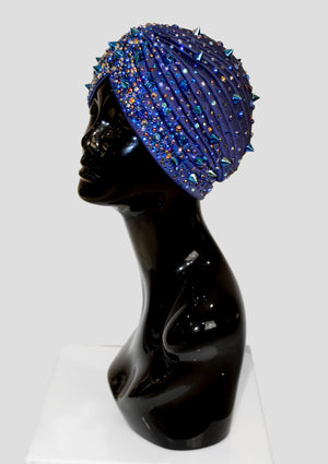 Blue Mélange Turban