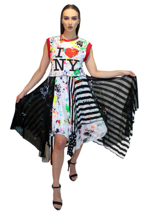 DOPE 'I ❤️ NY' Painters Dress