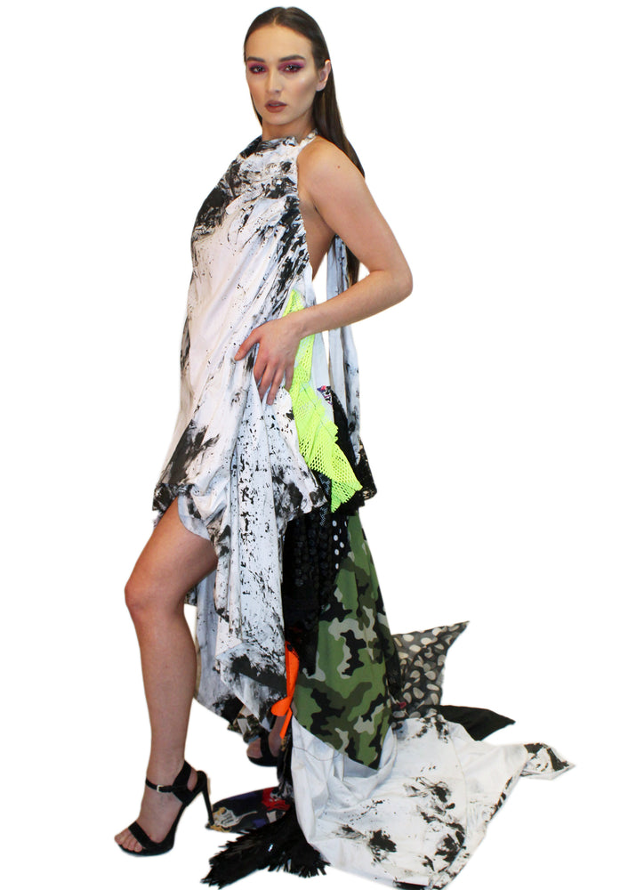 DOPE Painter's Dream Backless Dress