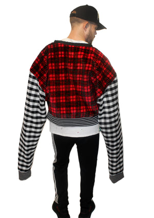 DOPE Gingham & Plaid Crop Jacket