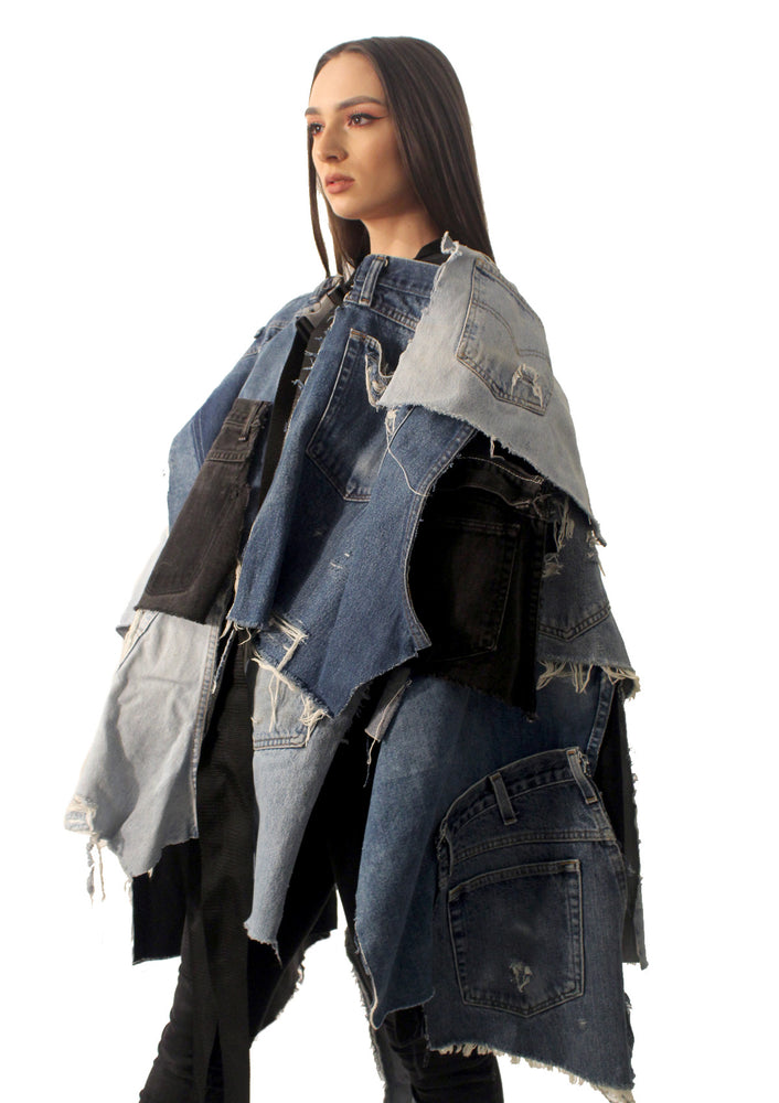 DOPE Oversized Denim Poncho
