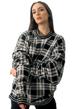 DOPE Plaid Long Sleeve Sweater