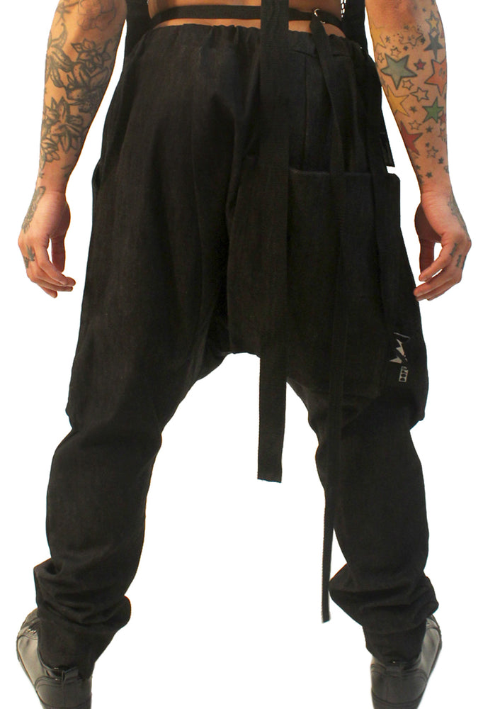 DOPE Drop Crotch Harem Pants - Dark Denim
