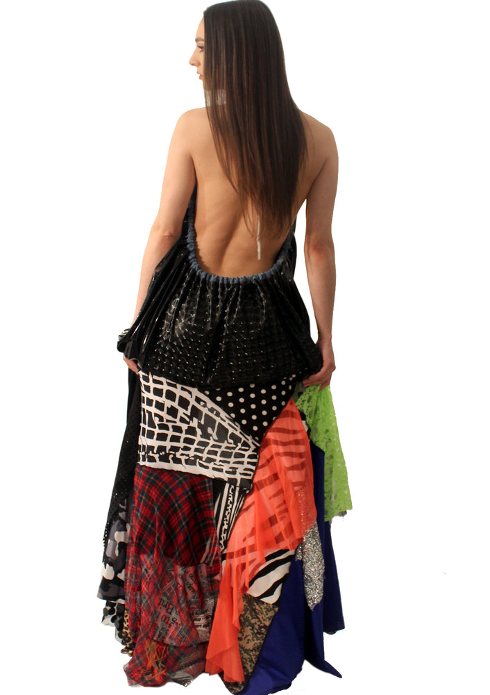 DOPE Vinyl Backless Mixed Dress