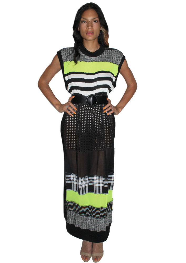 DOPE Stripe Mesh Dress