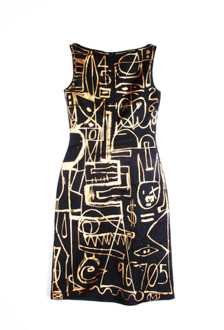 'Jody MORLOCK' Hand Painted Dress  - IMMEDIATE DELIVERY SIZE 4