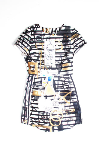 'Jody MORLOCK' Hand Painted Dress  - IMMEDIATE DELIVERY SIZE 2