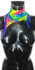 PRIDE Liquid Metal Silicone Drip Neck Short Collar * Limited Collection*