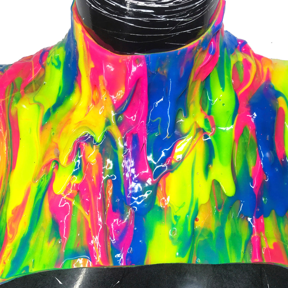 PRIDE Liquid Metal Silicone Drip Neck Cage Collar * Limited Collection*