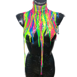 PRIDE Liquid Metal Silicone Drip Neck Full Body Collar * Limited Collection*