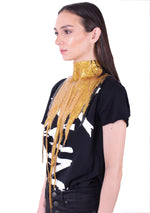 Glitter Whore Drip Collar - Gold/Black