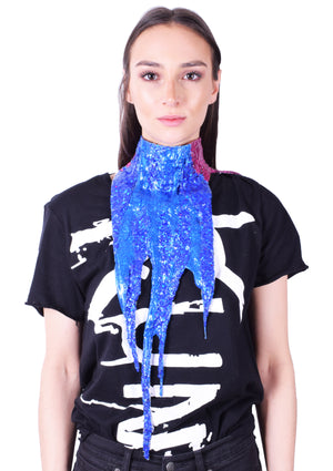 Glitter Whore Drip Collar - Royal Blue/ Magenta