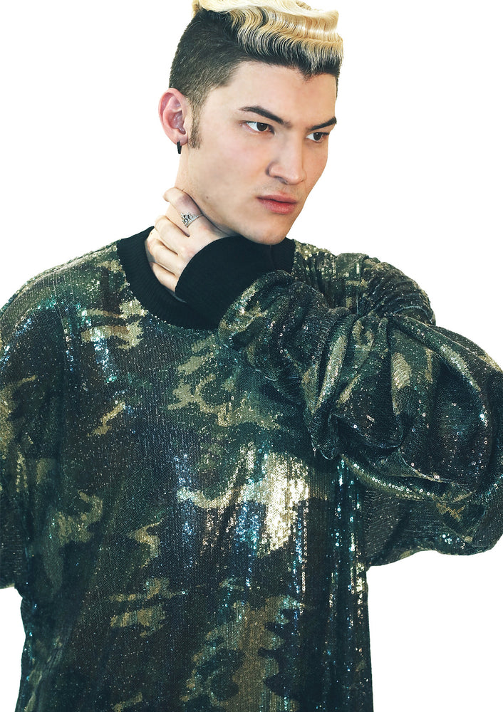 DOPE Sequin Camo Long Sleeve Top